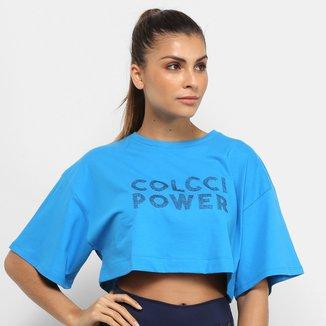 Camiseta Cropped Colcci Fitness Mini Veste Power Feminina