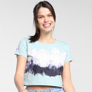 Camiseta Cropped Ecko Estampada Feminina