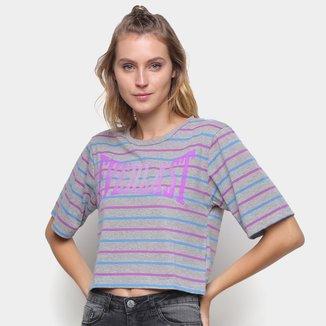 Camiseta Cropped Everlast Stripes Feminina