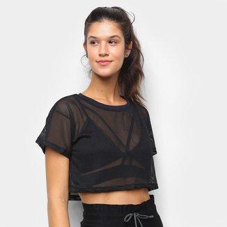 Camiseta Cropped Tricats Bykker Tela Feminina