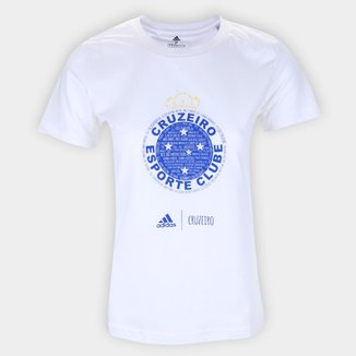 Camiseta Cruzeiro Adidas Blank Feminina