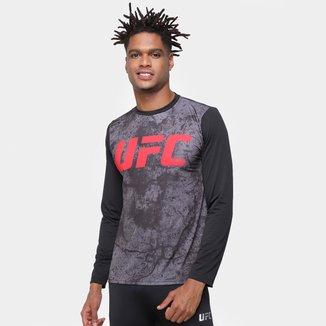 Camiseta de Compressão UFC Storms Manga Longa Masculina