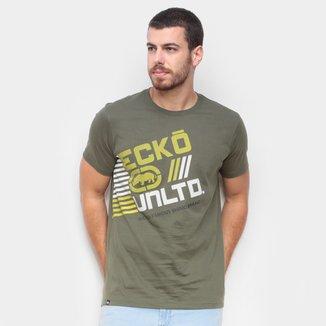 Camiseta Ecko Estampa Rhino Brand Masculina