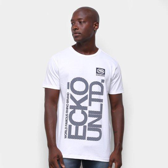 Camiseta Ecko Vertical Logo Masculina - Branco