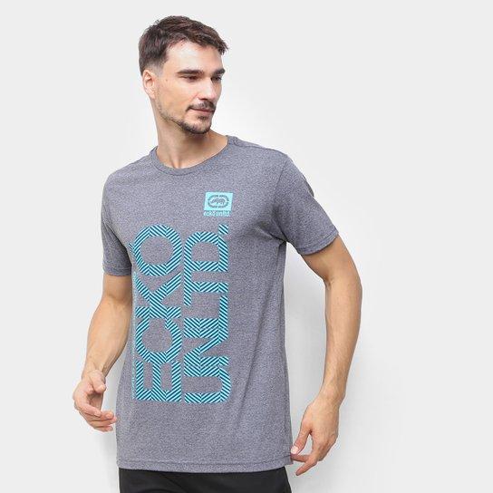 Camiseta Ecko Vertical Logo Masculina - Grafite