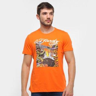 Camiseta Ed Hardy Color Abstract Masculina