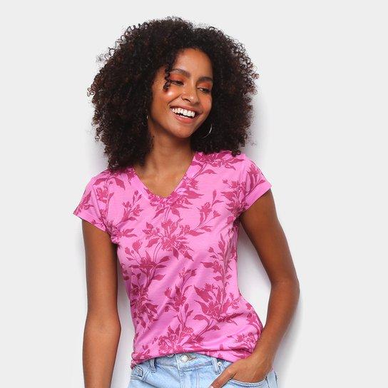 Camiseta Energia Natural Baby Look Básica Feminina - Rosa