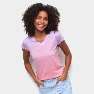 Camiseta Energia Natural Baby Look Básica Feminina