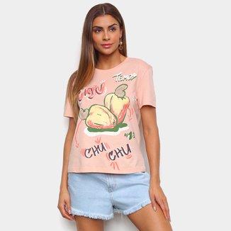 Camiseta Farm Temos Cajú Feminina