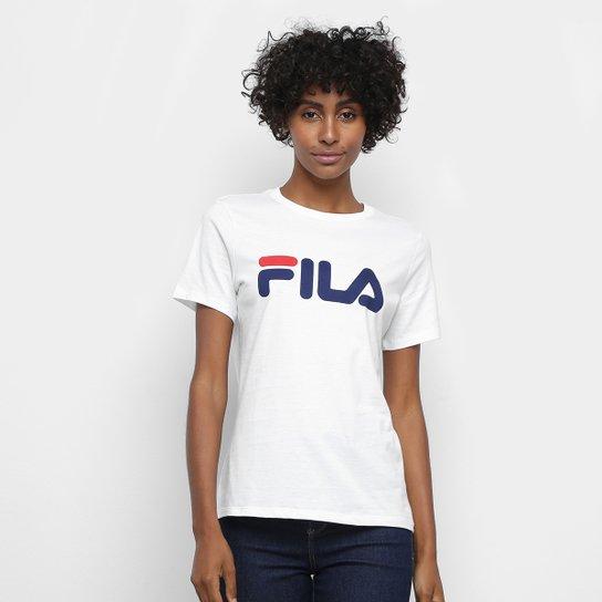 Camiseta Fila Basic Letter Feminina - Branco