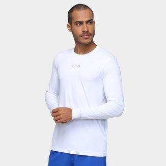 Camiseta Fila Proteção UV Manga Longa Masculina