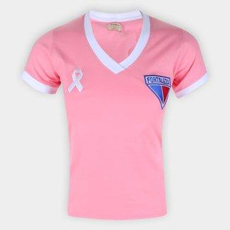 Camiseta Fortaleza Outubro Rosa Retrô Mania Feminina