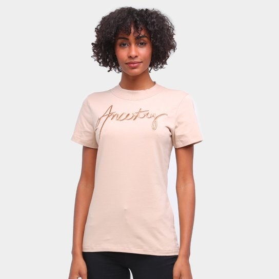 Camiseta Forum Básica Ancestry Feminina - Bege