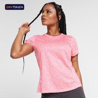 Camiseta Gonew Dry Touch Animal Print Feminina