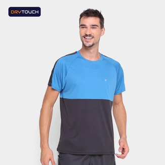 Camiseta Gonew Dry Touch Duo Color Slim Masculina