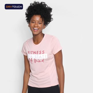 Camiseta Gonew Dry Touch Fitness Is A State Of Mind Feminina