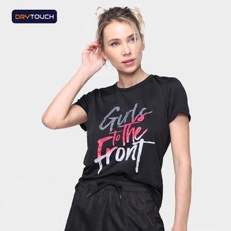 Camiseta Gonew Dry Touch Girls To The Front Feminina