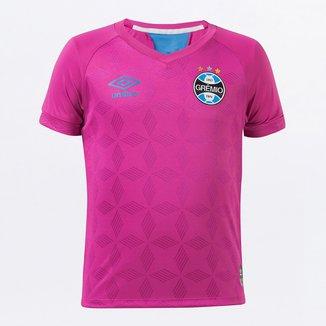 Camiseta Grêmio Infantil Outubro Rosa 20/21 s/n° Torcedor Umbro