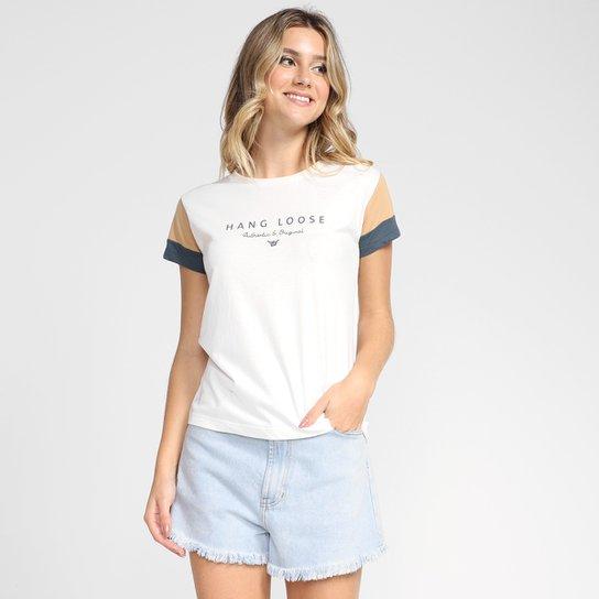 Camiseta Hang Loose Authentic Original Feminina - Off White