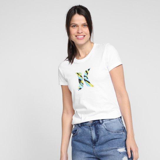 Camiseta Hurley Icon Smoke Feminina - Branco