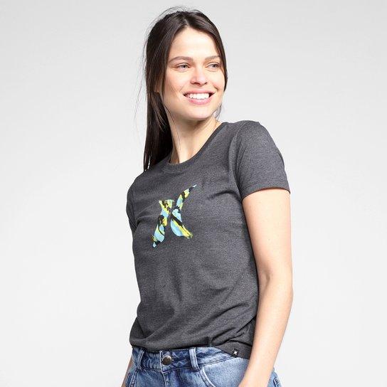 Camiseta Hurley Icon Smoke Feminina - Mescla