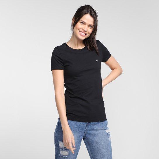 Camiseta Hurley Mini Icon Feminina - Preto