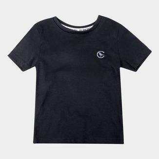 Camiseta Infantil Costão Bordada Básica Masculina