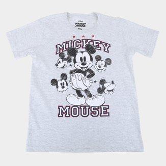 Camiseta Infantil Disney Mickey College Masculina