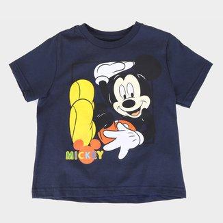 Camiseta Infantil Disney Mickey Square Masculina