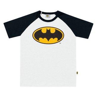 Camiseta Infantil Fakini Batman Raglan Masculina