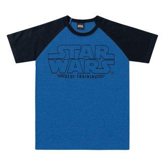Camiseta Infantil Fakini Malha Star Wars Masculina