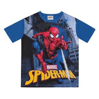 Camiseta Infantil Fakini Spider-Man Malha Masculina