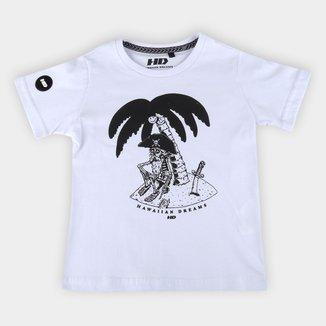 Camiseta Infantil HD Coqueiro Pirata Masculina