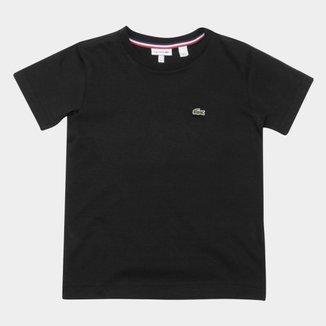 Camiseta Infantil Lacoste Logo Manga Curta Masculina