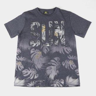 Camiseta Infantil Lemon Folhagens Masculina