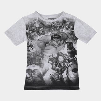 Camiseta Infantil Marvel Avengers Shield Masculina