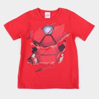 Camiseta Infantil Marvel Homem De Ferro Masculina
