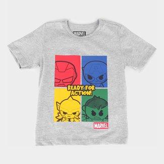 Camiseta Infantil Marvel Ready For Action Masculina