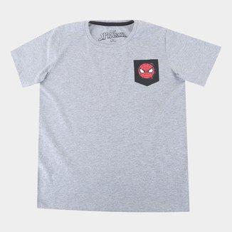 Camiseta Infantil Marvel Spider Pocket Masculina