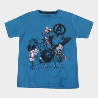 Camiseta Infantil Marvel Vingadores Masculina