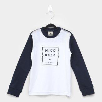 Camiseta Infantil Nicoboco Especial Manga Longa Masculina