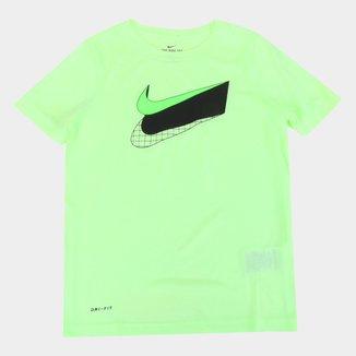 Camiseta Infantil Nike Swoosh Masculina