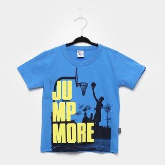 Camiseta Infantil Pulla Bulla Basquete Manga Curta Masculina