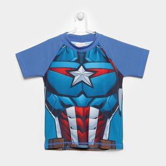 Camiseta Infantil Tip Top Avengers Manga Curta Masculina