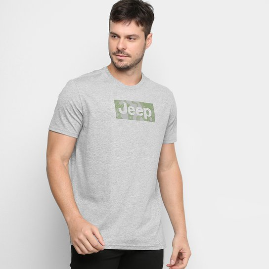 Camiseta Jeep Camuflada Mask Masculina - Cinza