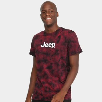 Camiseta Jeep Premium Lavada Tie-Dye-Logo Masculina