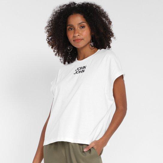 Camiseta John John Básica Feminina - Off White