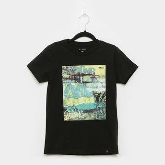 Camiseta Juvenil All Free Estampada Manga Curta Masculina