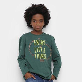 Camiseta Juvenil Colcci Fun Little Things Manga Longa Masculina
