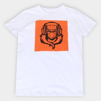 Camiseta Juvenil Fortnite Raptor Masculina